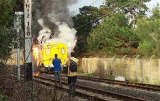 Train fire survivor believes petrol bomb was throw through carriage window