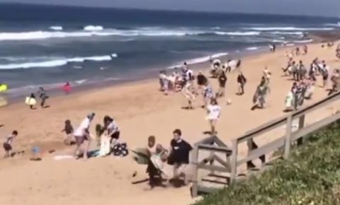 durban-beachgoers-flee-police-twitter-video-screengrabpng