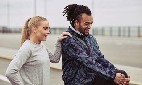 Active sporty couple going for a run 123rflifestyle 123rfhealth 123rf