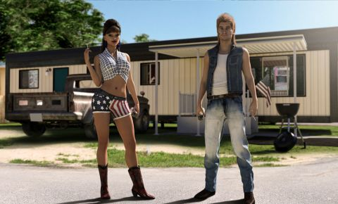 Humerous concept of trailer park trash stereotype 123rflifestyle 123rf
