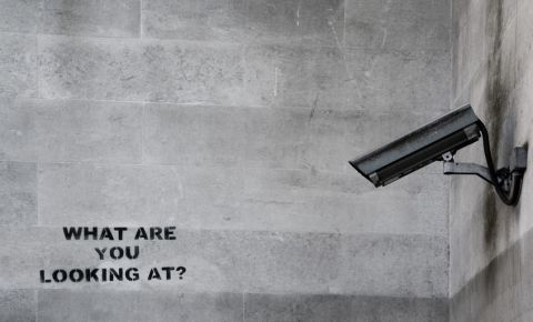 CCTV surveillance Big Brother Banksy 123rf