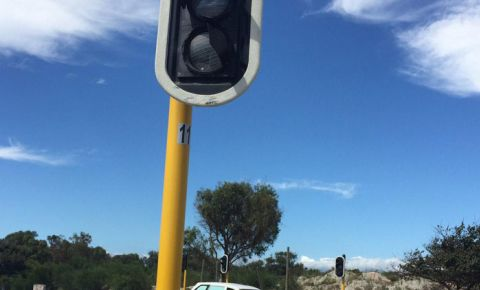 traffic lights vandalised Jakes Gerwel Drive 2016
