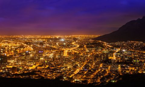 City of Cape Town by night 123rf.com