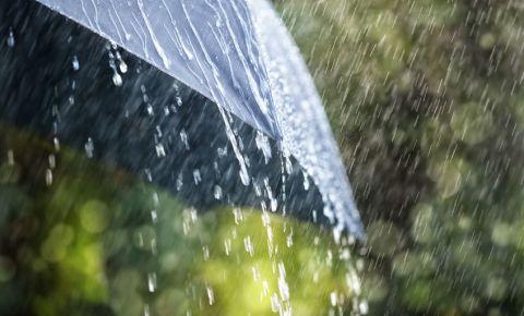 Downpour rain black umbrella 123rf weather 123rWeather