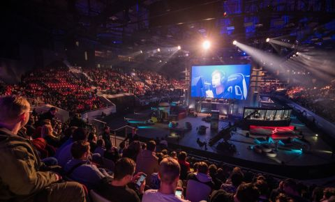 Cyber sport event stage and screen from game esports gaming 123rflifestyle 123rf