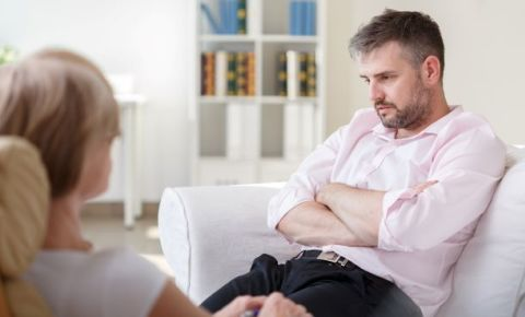 Man talking-with-psychiatrist or therapist session therapy-counselling-123rf