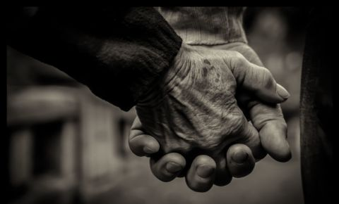 Elderly couple holding hands aged old people 123rf