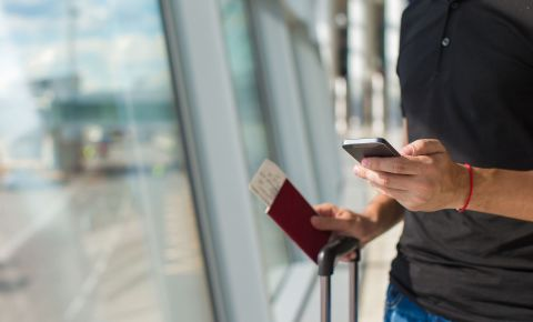 Man travel airport boarding pass passport #123rflifestyle 123rf