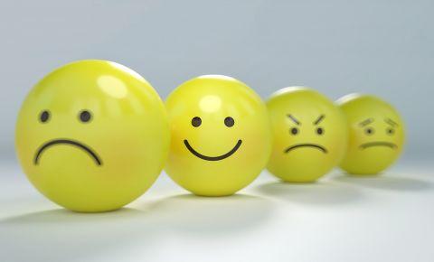 Emotions emoticons emojis sad happy angry scared