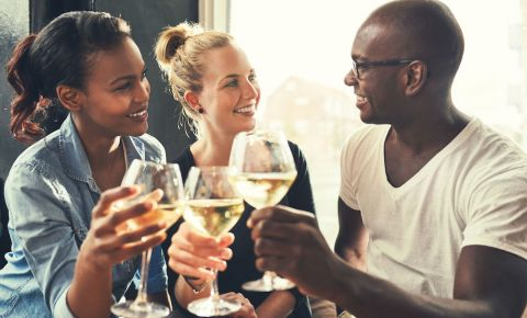 Friends at a bar drinking wine 123rflifestyle 123rf