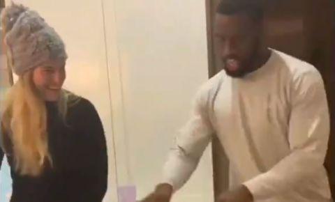 Siya and Rachel Kolisi dancing