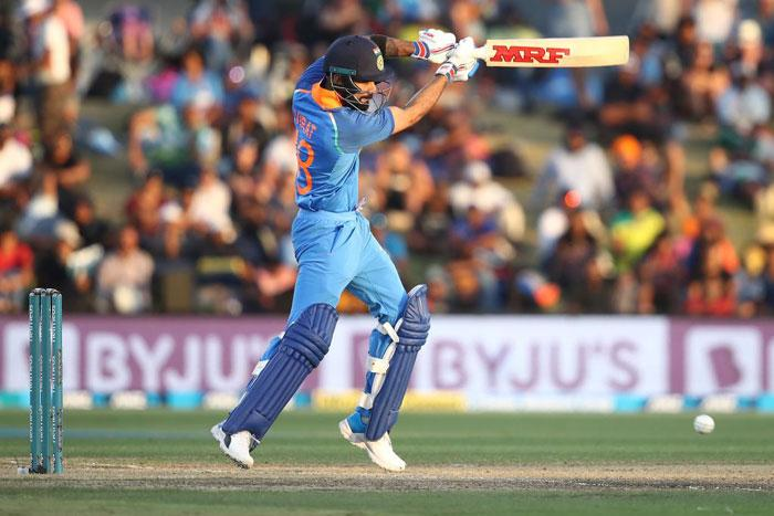 FILE: Virat Kohli in full flow during the ODI match against New Zealand on 28 January 2019. Picture: @BCCI/Twitter