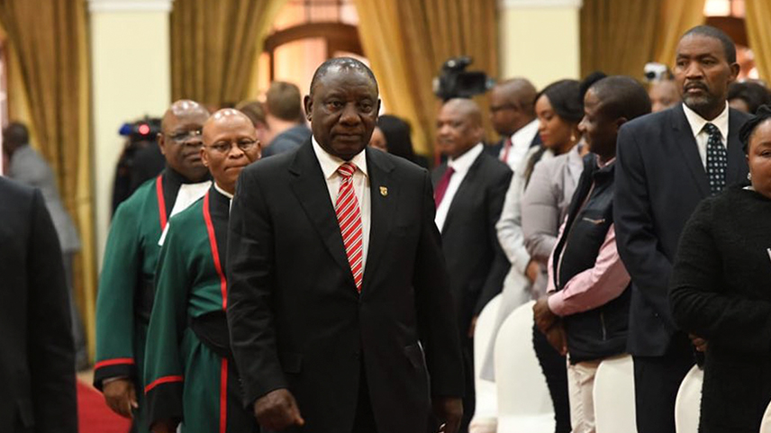 President Cyril Ramaphosa arrives at Sefako Makgatho Presidential Guest House in Tshwane on 30 May 2019 for the swearing-in ceremony for ministers and deputy ministers following their appointment.Picture: GCIS.