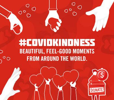 #COVIDKindness: Beautiful, feel-good moments from around the world
