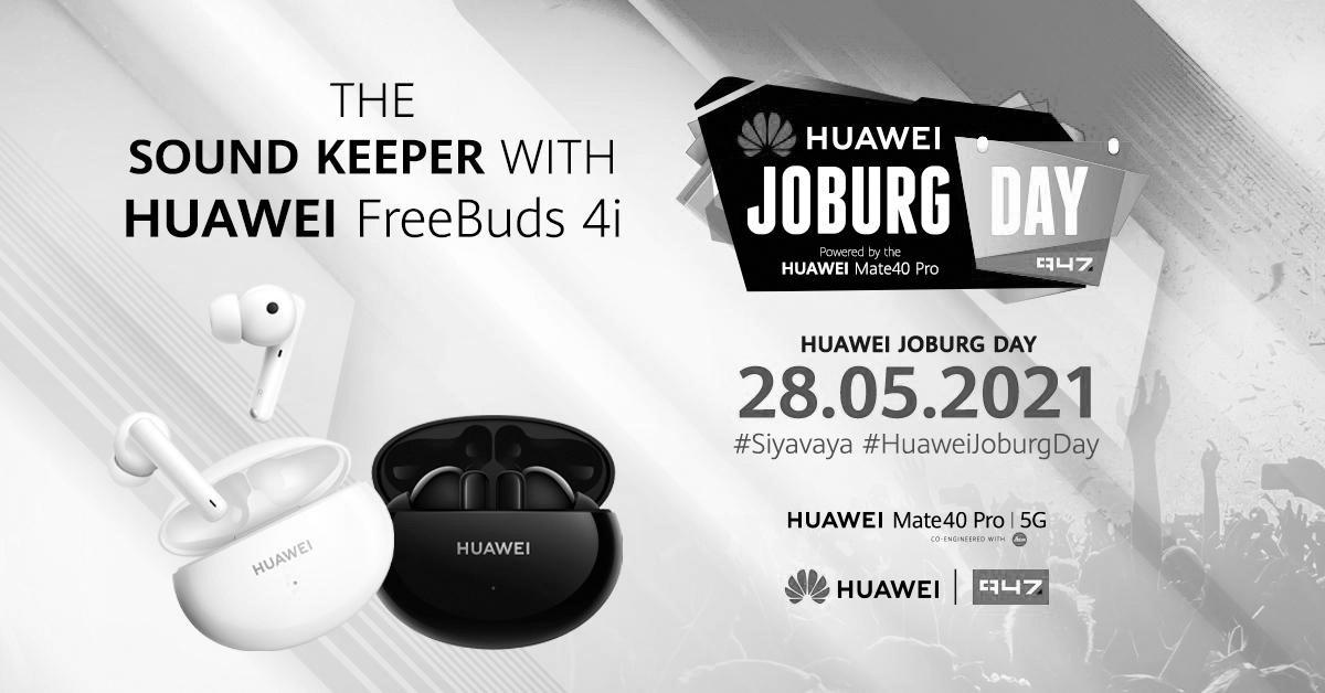Stand a chance to WIN a share of R55 000 with 947 and HUAWEI FreeBuds 4i